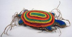 Sioux Beaded Turtle Umbilical Cord Fetish : Lot 2122