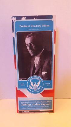 President Woodrow Wilson Action Figure Toy Presidents Limited Edition #USPresidents #WoodrowWilson #ActionFigure #ToyPresidents #28thPresident