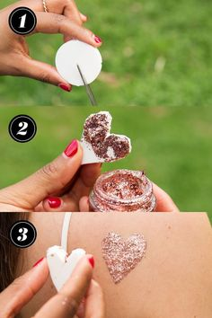 Create your own glitter stamps out of cheap makeup sponges. Cut whatever design you want out of a sponge and then use it to stamp glitter gel wherever you want on your body. Glitter Roots, Glitter Make Up, Glitter Party, Glitter Girl, Glitter Heels, Glittery Nails, Glitter Bomb, Glitter Face Paint, Makeup Tricks