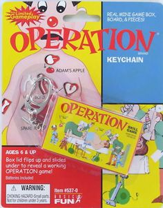 Basic Fun Operation game keychain. Game really works