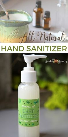 A safe, healthy recipe for hand sanitizer using aloe, witch hazel, and Thieves oil that can help fight the cold and flu, naturally. #gardentherapy #cold #flu #wellness #diy #handsanitizer Natural Hand Sanitizer, Witch Hazel, Flu, Diy Ideas, Therapy, Wellness, Hands, Healthy, Garden