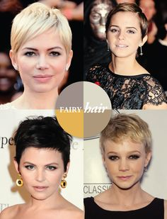 """Fairy Hair - Pixie Cuts....finally getting used to long hair now but every once in a whole I see these and think,""""I'm gonna do that again""""..."""