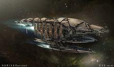 EVE Minmatar ship concept.