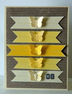 pop die cut on a strip of the same colored paper OR punch shape out of strip and then replace on card front in negative space with pop dot for dimension