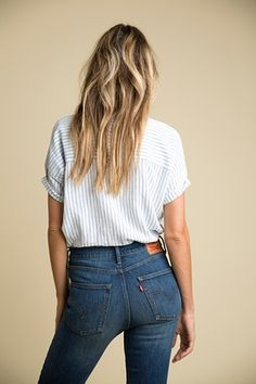 Wedgie jeans from Levi's.