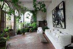 Axel Vervoodt Belgian vertical wall living garden; Gardenista