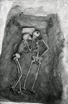 Real love lasts forever - a 6000 year old kiss, discovered on an excavation site in Iran, 1972
