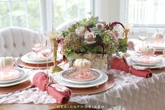 A Burnished Copper Tablescape for a Warm Thanksgiving Dinner   Designthusiasm.com