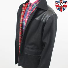 More like it. Donkey Jacket with PVC Shoulders Original British Brand.