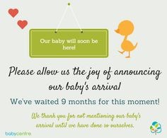Great graphic for use on Facebook and Twitter from BabyCentre UK