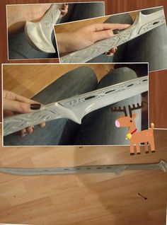 abessinier:  sword I made for my Thranduil cosplay ♡ Before painting