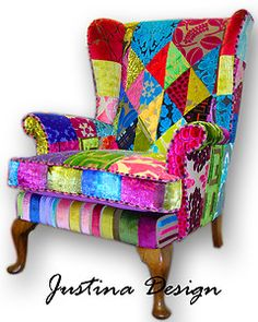 Vintage Patchwork Chair Sofa Designers Guild Fabric made to order | eBay