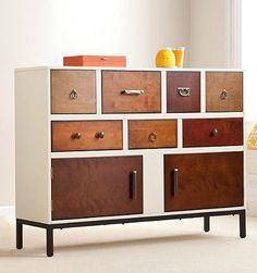 Drawer with different handles - DIY idea