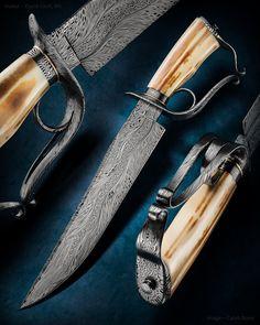 """Maker: David Lisch, JS Website: davidlisch.com Overall Length: 16 1/8"""" Blade…"""