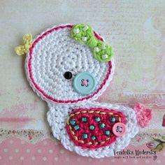 Crochet little duck appliqué - pattern DIY. $3.80 for pattern 10/15