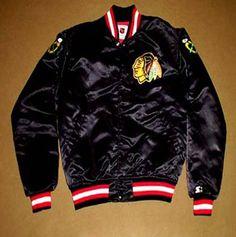 cfc7cbb14 Vintage Blackhawks Starter Jacket - mr-mommy on Ebay