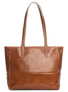 5acbc4e02d969 Tenuta-Full Grain Leather Shoulder Tote Bag