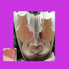 Book Folding Pattern  Cat Hearts  282 Folds   by CraftyHana