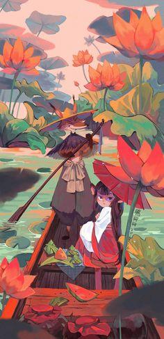夏天快乐~|插画|儿童插画|鴨貝貝 - 原创作品 - 站酷 (ZCOOL) Pretty Art, Cute Art, Guache, Illustrations, Art Background, Cute Drawings, Art Pictures, Digital Illustration, Art Inspo