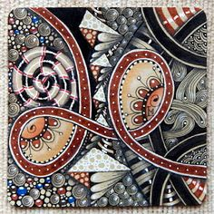 """Lily's Tangles: Diva's Weekly Challenge #223: """"Official Tangle - UMBLE"""" and other weekly tiles."""