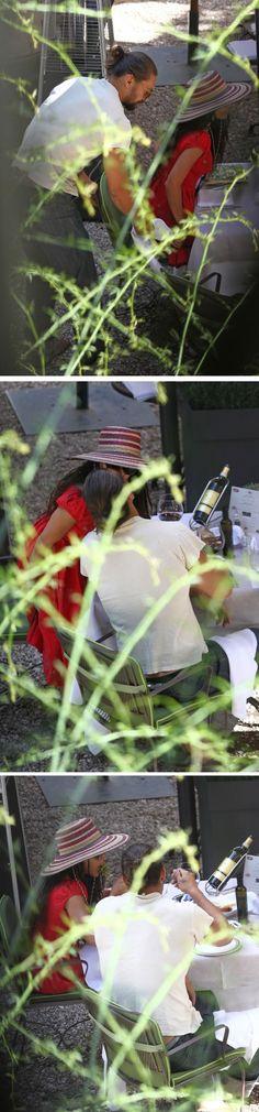 Jason Momoa and wifey Lisa Bonet . Jason is a true gentleman pulling out her chair . so sweet!