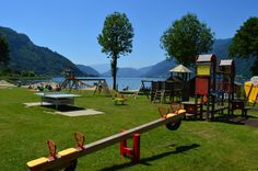 Terrassencamping Ossiacher See:  Strand, Sand, See