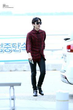 140912 EXO Baekhyun | Incheon Airport to Bangkok | Airport Fashion ✈️