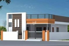 elevations of independent houses House Outer Design, Single Floor House Design, House Outside Design, Bungalow House Design, House Front Design, Small House Design, North Facing House, West Facing House, 2bhk House Plan