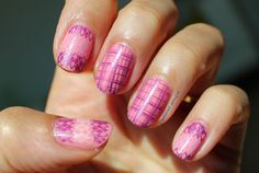 Polished Polyglot: 33DC - Day 18: Manicure featuring 2 patterns