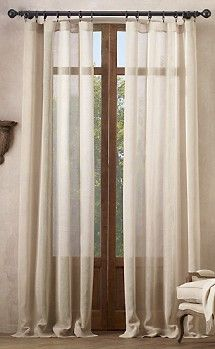 in love with sheer linen curtains