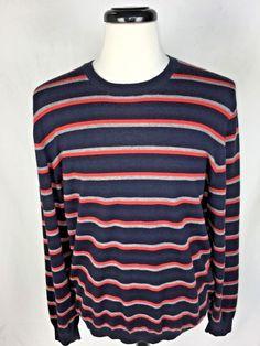 NEIMAN MARCUS Sweater Mens XL Blue CASHMERE Long Sleeve #NeimanMarcus #Crewneck
