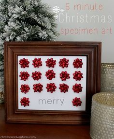 Make this easy Christmas craft in 5 minutes!  christinasadventures.com
