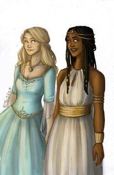 Celaena and Nehemia