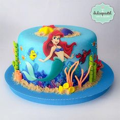 Torta Sirenita - The Little Mermaid Cake - Cake by Giovanna Carrillo