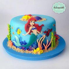 Torta Sirenita - The Little Mermaid Cake - Cake by Giovanna Carrillo