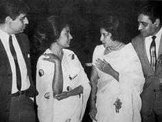 Dilip Kumar, meena kumari, nargis dutt and Rajendra kumar. Indian Film Actress, Old Actress, New Actors, Actors & Actresses, Kamini Kaushal, Legendary Pictures, Film Icon, Bollywood Photos, Vintage Bollywood
