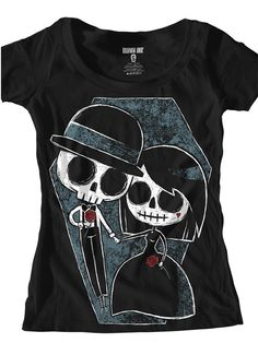 "Women's ""Till Death Do Us Part"" Tee by Akumu Ink (Black)"