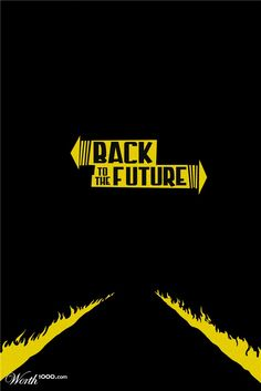 Minimalist Movie Poster - Back to the Future