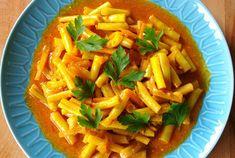 zadanie - gotowanie: Fasolka szparagowa po indyjsku.