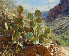 Window Cactus, oil, 16 x 20.