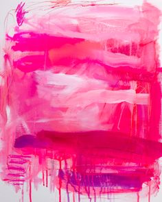 Pinkenstein by Jenny Andrews Anderson (Canvas) from Art for Her on Gilt Painting Inspiration, Art Inspo, Pink Painting, Art Watercolor, Pink Art, Art Plastique, Modern Art, Art Photography, Abstract Art