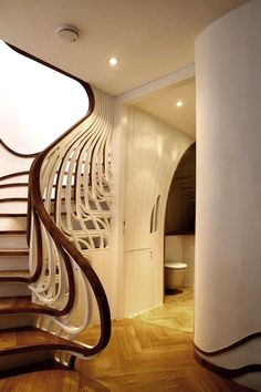 Art Nouveau and Art Deco, chaosbe: Stairs, art nouveau inspired Luxury Staircase, Curved Staircase, Staircase Design, Stair Design, Spiral Staircases, Staircase Ideas, Railing Design, Interior Staircase, Escalier Art