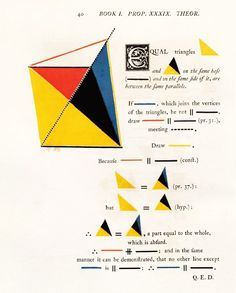 Mondrian Meets Euclid: An Eccentric Victorian Mathematician's Masterwork of Art and Science Math in primary colors and graphic design before there was graphic design. Primary colors, geometry, and graphic design before there was graphic design.