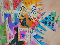 Ideas for how to collage and create a personal voice in zine making.