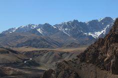 Road's & Mountain Peaks, Ulugqat, Xinjiang, China
