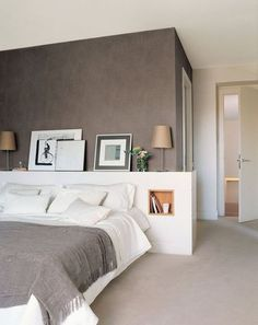 100 Modern Bedroom Design Inspiration The bedroom is the perfect place at home for relaxation and rejuvenation. While designing and styling your bedroom, Decor, Furniture, Interior, Home, Home Bedroom, Bedroom Interior, House Interior, Home Deco, Modern Bedroom