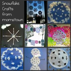 7 Snowflake craft ideas for Winter program.  Hmm maybe for the 2nd graders.