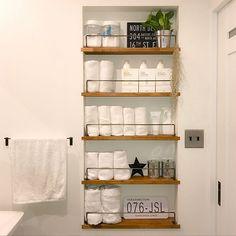まるでホテル!清潔感のあるタオル収納で洗面所を魅力的に | RoomClip mag | 暮らしとインテリアのwebマガジン