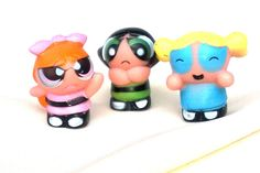 POWERPUFF GIRLS 3 Piece Mini Figures Play Set Cake Topper Party Favor Girls Toy #PartyTime