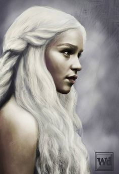 Beautiful Daenerys fan art  (via reddit.com/user/drunkreaper)  #gameofthrones #asoiaf